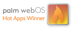 Palm Hot Apps Award Winner